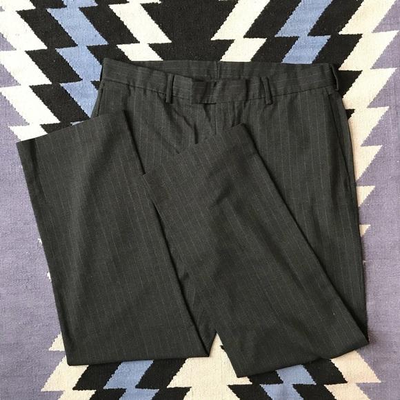 Perry Ellis Other - Perry Ellis - Black/charcoal pinstripe dress pants